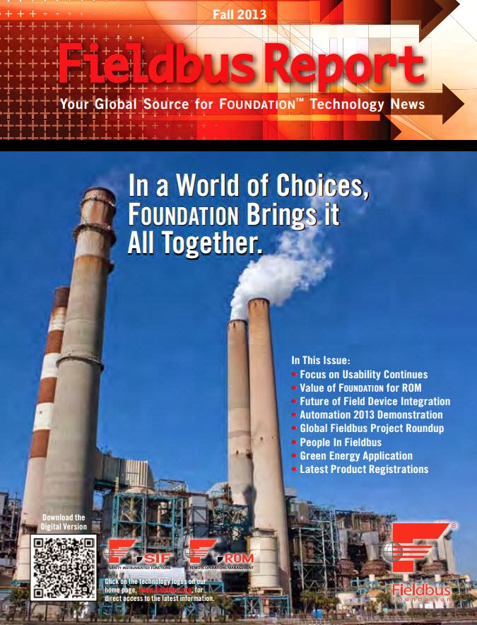Latest Edition of Fieldbus Report Now Available